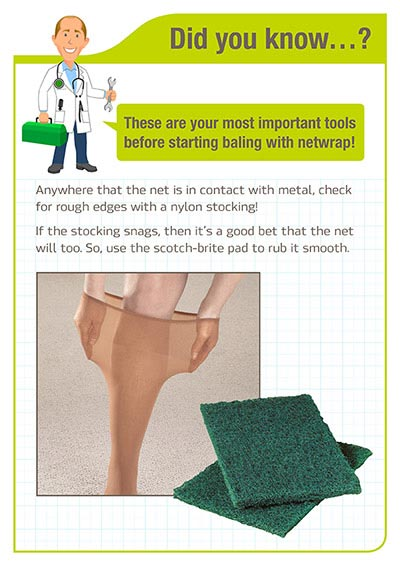 Did you know - Netwrap baling important tools