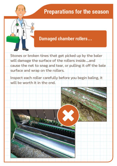 Preparation for the season - Damaged chamber rollers