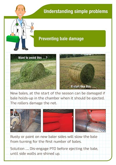 Understanding simple problems - Preventing bale damage